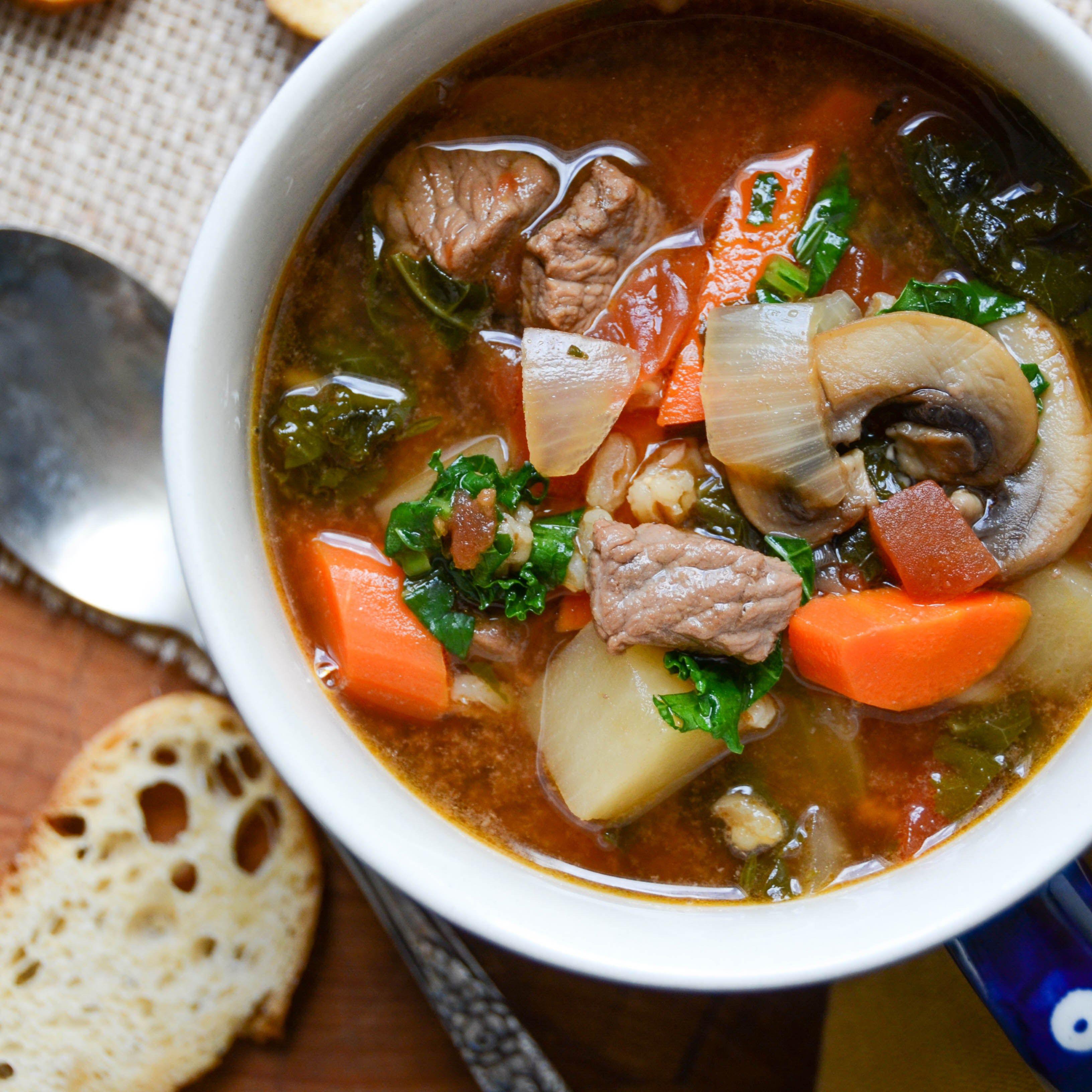beef and vegetable soup | Garlic + Zest