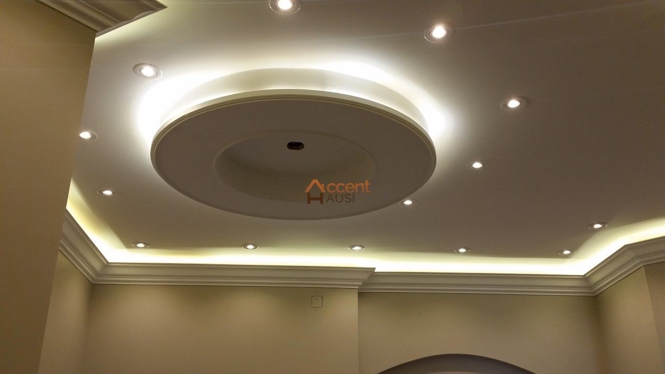 Round Patterned Oval Ceiling In Living Room In A House North York False Ceiling Design Ceiling Design Living Room Ceiling Design