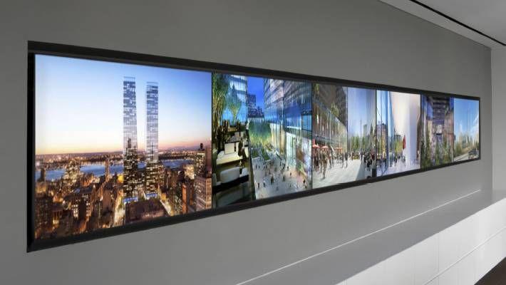 Manhattan West Multi-Screen Display Union Design Office - multi screen display