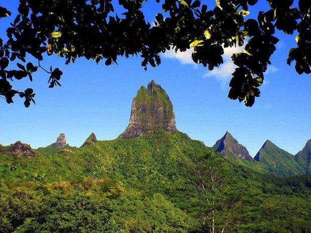 Mont Mouaroa à Moorea, en Polynésie