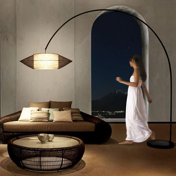Kai Arc Lamp Large By Kenneth Cobonpue For Hive Arc Floor Lamps Arc Floor Lamps Living Room Large Floor Lamp