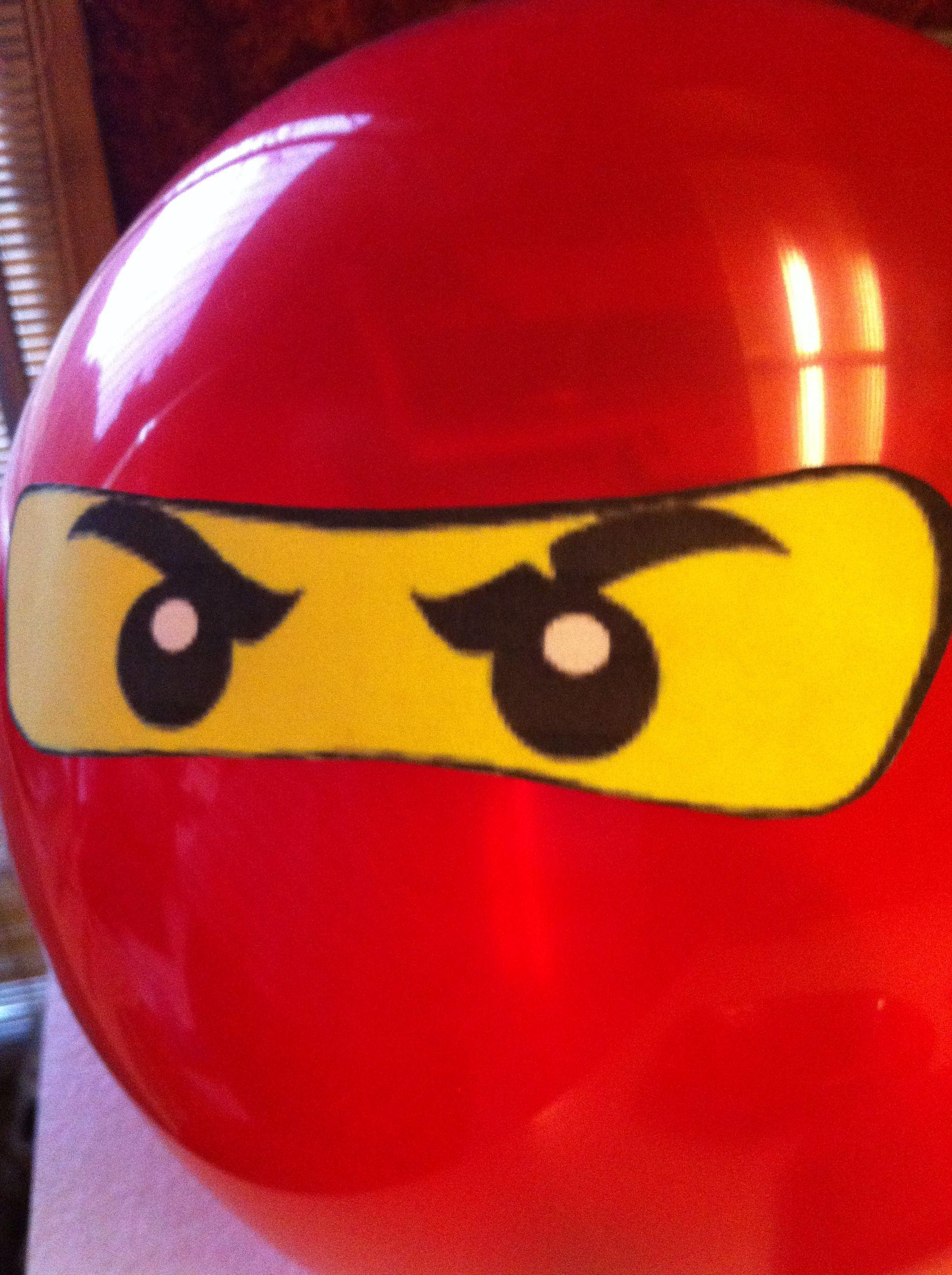 Ninjago Birthday Party Idea Print Out Lego Ninja Eyes And