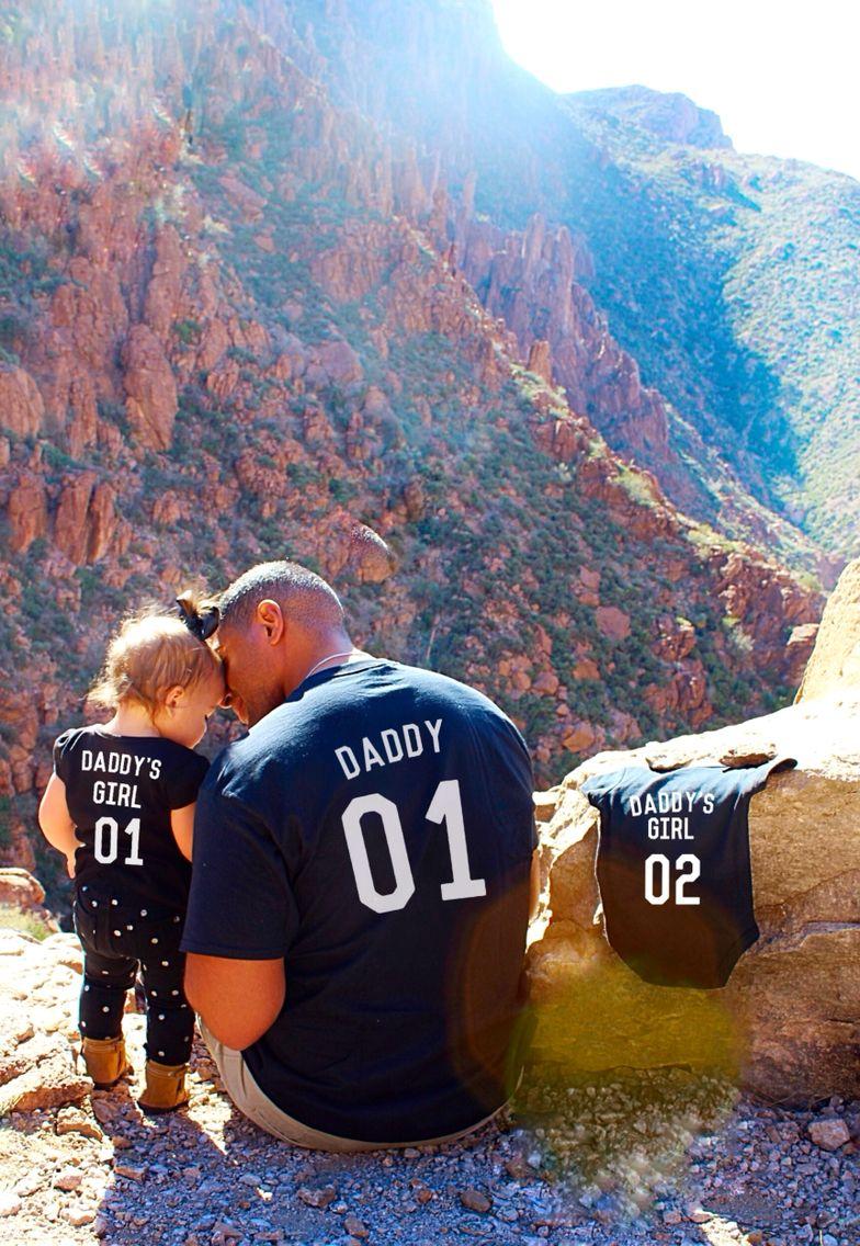 Baby Girl Pregnancy Announcement Daddy's girls.