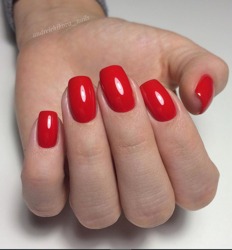 48 Stunning Red Acrylic Short Square Nails Design For Prom Square Nail Designs Short Square Nails Red Nails