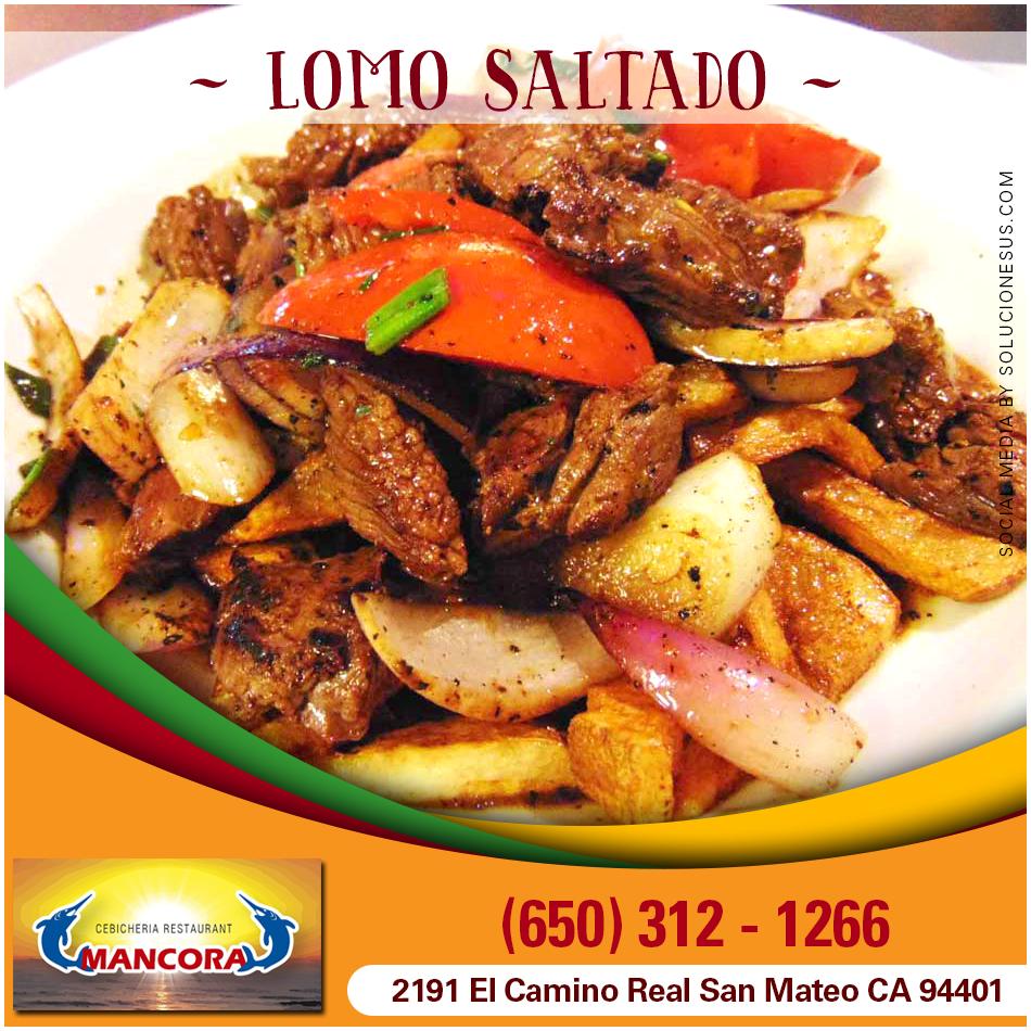 LOMO SALTADO Wok fried tenderloin steak strips, onion, tomato ...