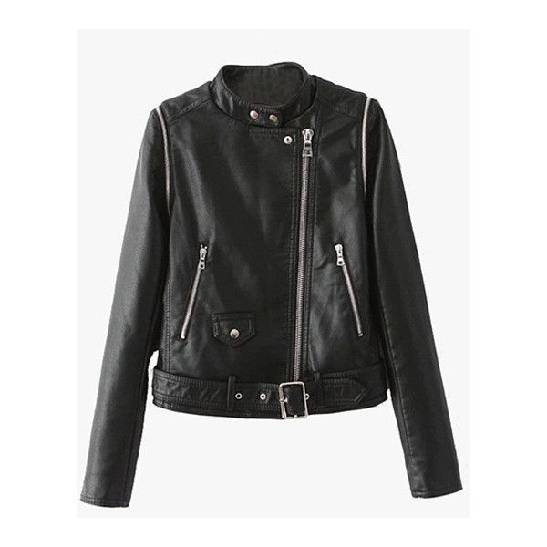 Black Faux Leather Zipper Vest Jacket ($100) ❤ liked on Polyvore featuring outerwear and jackets