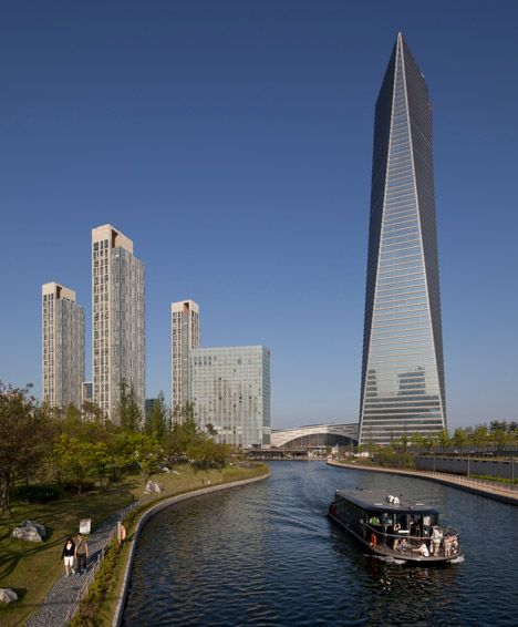 South korea 39 s tallest skyscraper opens three years after for Asia famous buildings