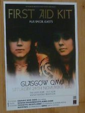 FIRST AID KIT CONCERT POSTER - Glasgow nov.2012 gig tour