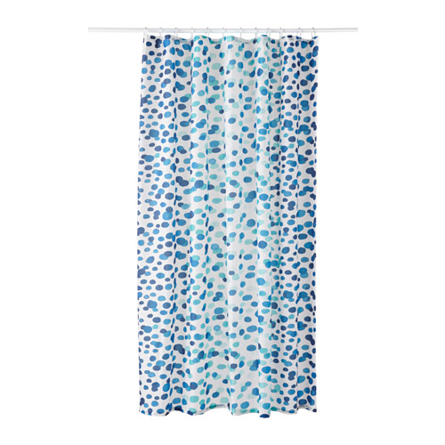 "SKORREN Shower curtain white/blue 71x71 "" Colorful"