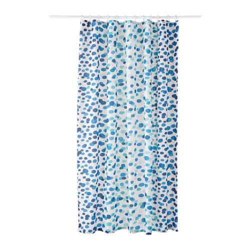 Skorren Douchegordijn Wit Blauw 180x200 Cm Ikea In 2020
