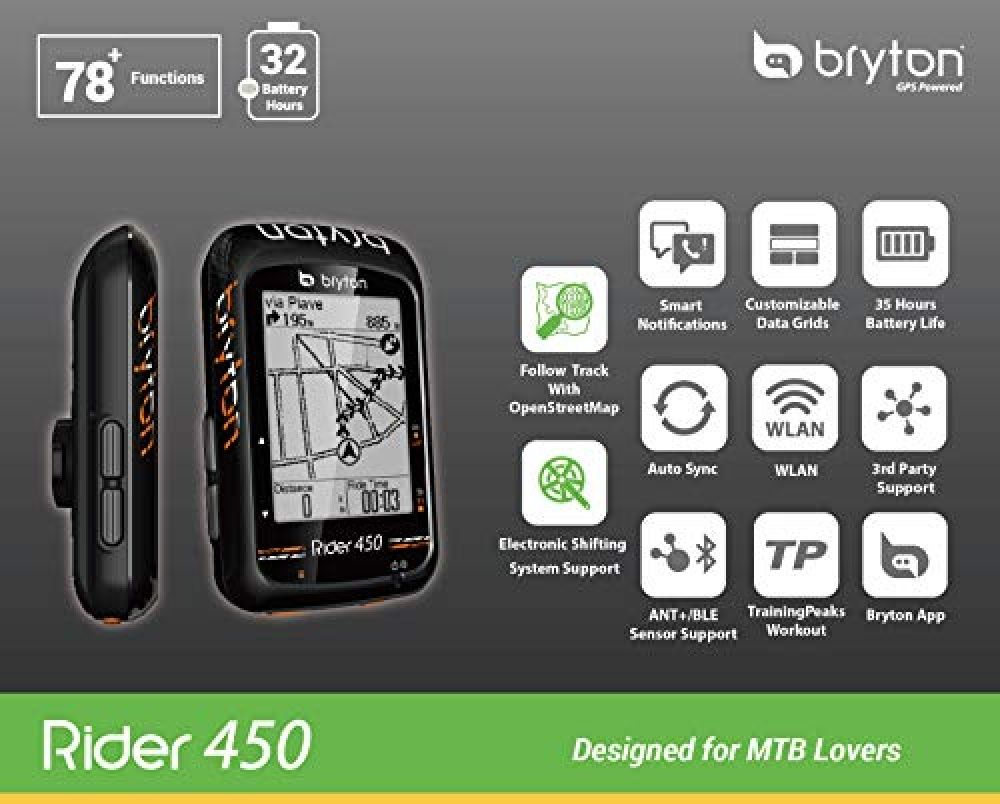Bryton Rider 450 Gps Bike Computer 2 3 Display 450e Base