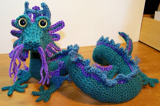Crochet Dragon Oriental Dragon Crochet Patterns Craftiness