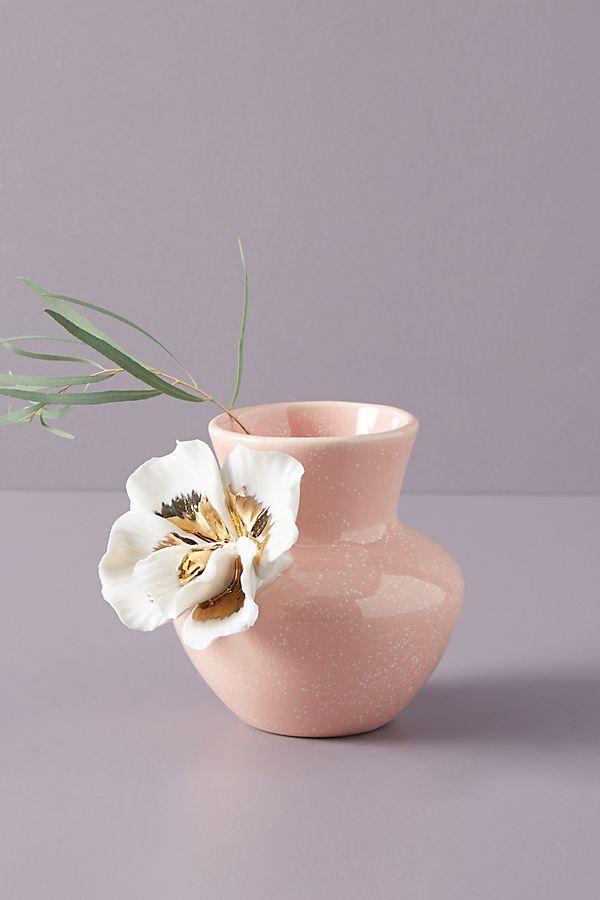 Ceramic Bloom Vase In 2020 Pink Vase Pastel Home Decor Vase