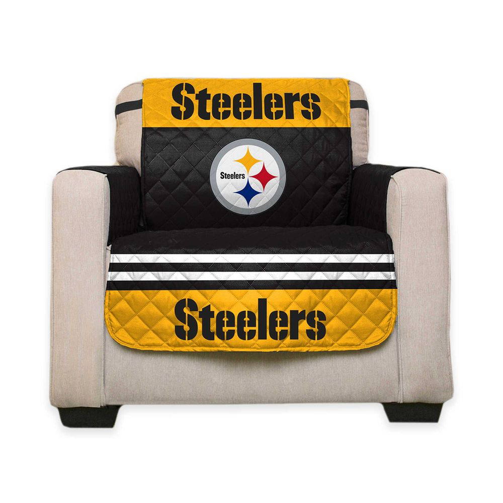 NFL Reversible Furniture Protector   PITTSBURGH STEELERS   Chair Cover