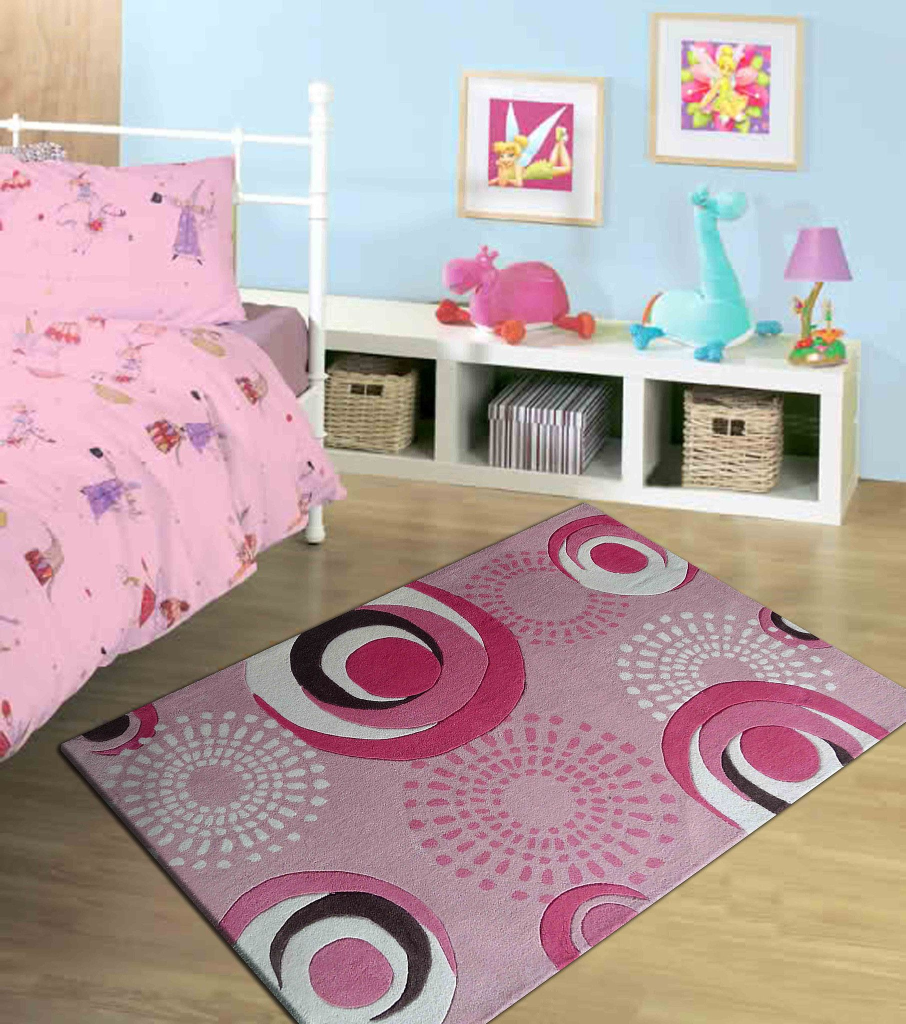 Pink Red 4x6 Area Rug For Girls