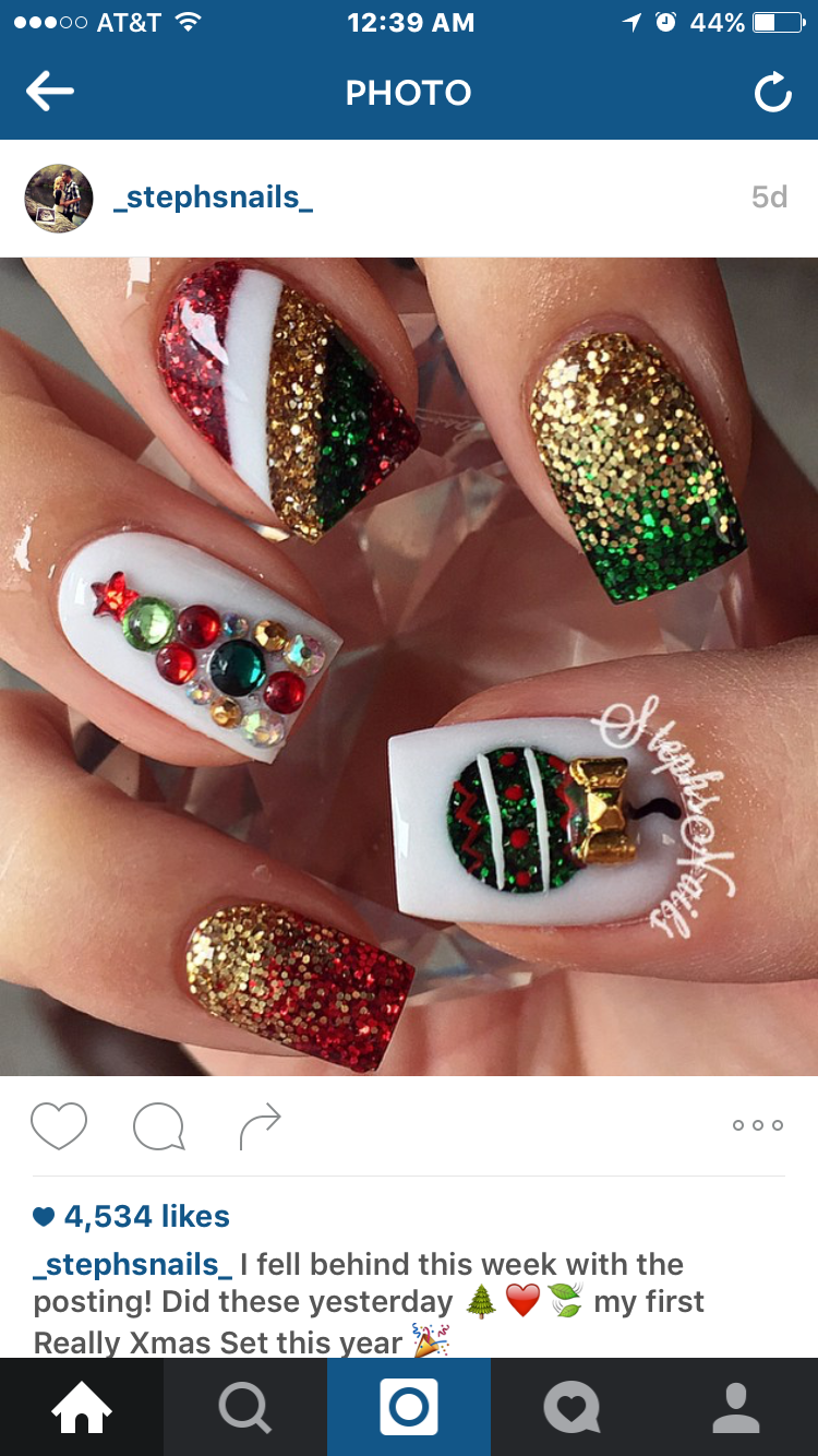 Lol oh so christmas nice christmas nails pinterest nice christmas nail art design idea for the holidays prinsesfo Gallery