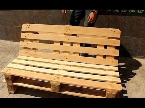 Banco de palets (  ecologiafacilisimo/blogs - como hacer bancas de madera para jardin