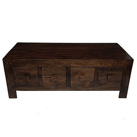mango wood coffee table Debenhams Mango wood coffee table with drawers | Debenhams  mango wood coffee table