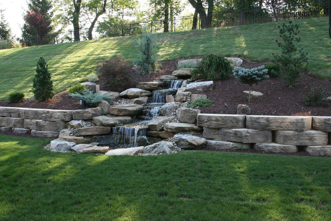 A perfect hillside addition water features ponds for Hillside landscaping