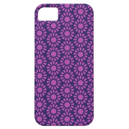 Purple Circle Pattern Flower Design Gifts iPhone 5 Cover