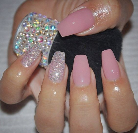 45 Short Coffin Acrylic Nail Designs For This Season Koees Blog Pink Nails Short Acrylic Nails Acrylic Nail Designs