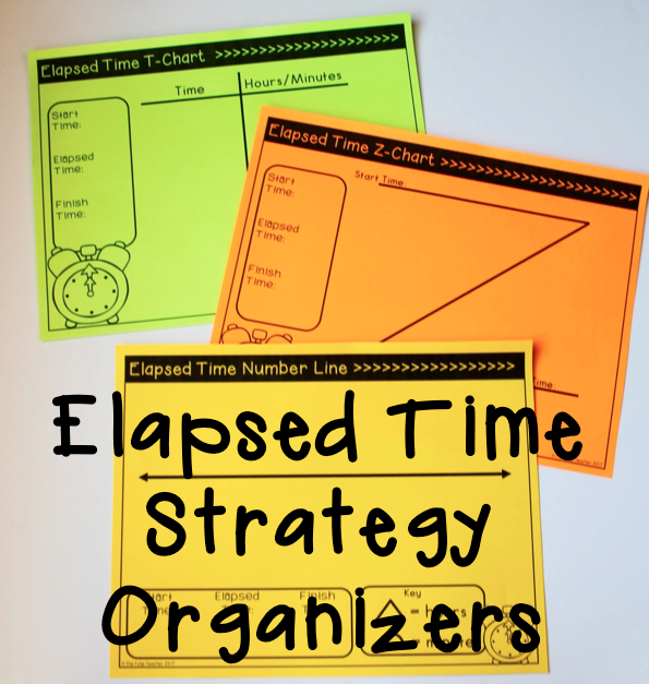 Elapsed time strategies and graphic organizers students can start with the organizer be gradually also rh pinterest