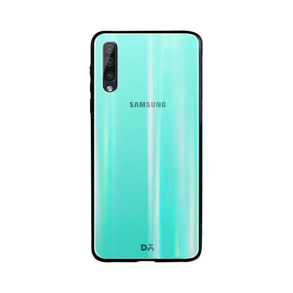 DailyObjects Teal Gradient Holographic Glass Case Cover For Samsung Ga