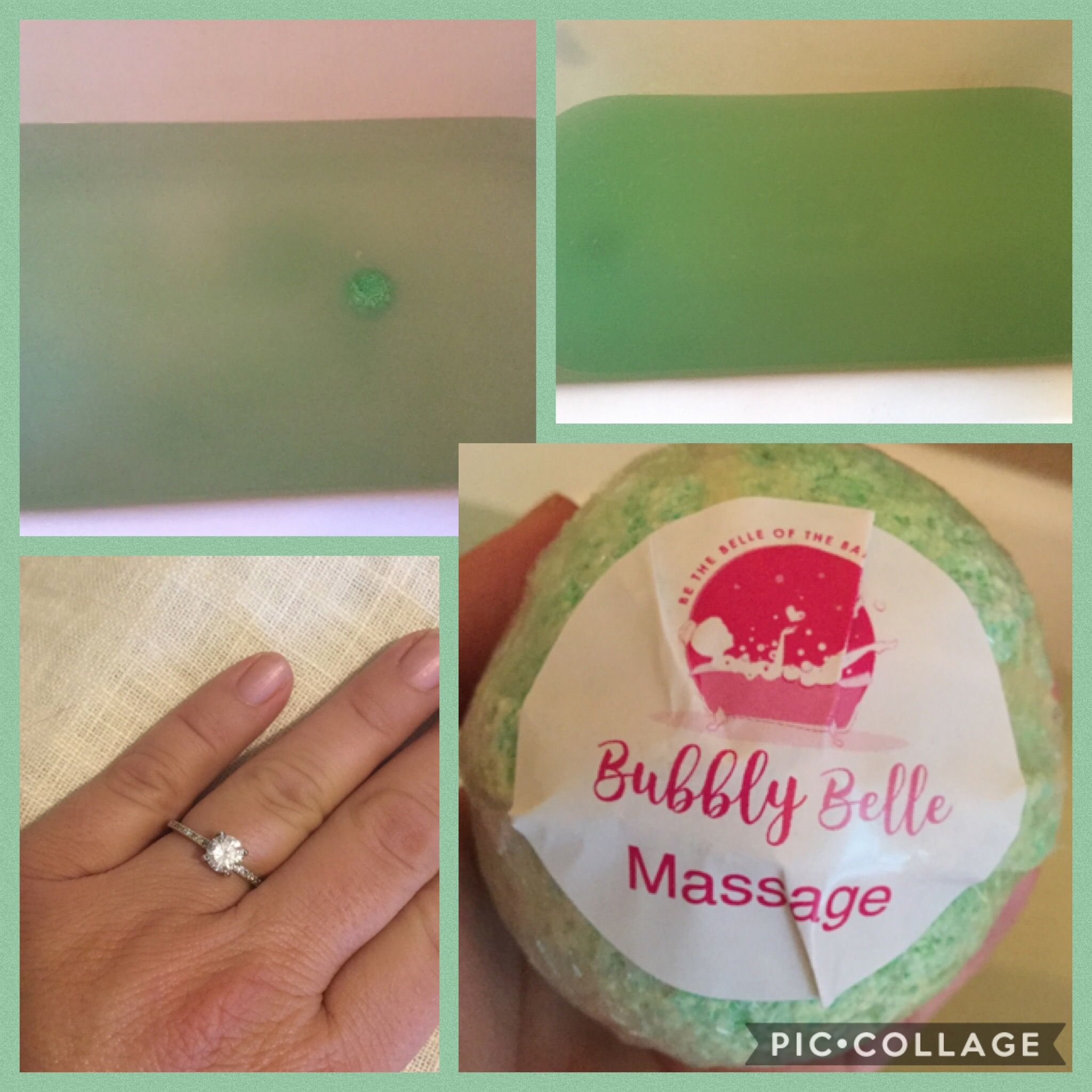 Bubbly Belle Massage Bomb Bubbles Bath Bombs Gifts