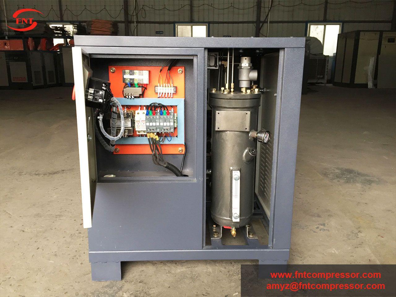 4.5KW screw air compressor, mini belt driven screw