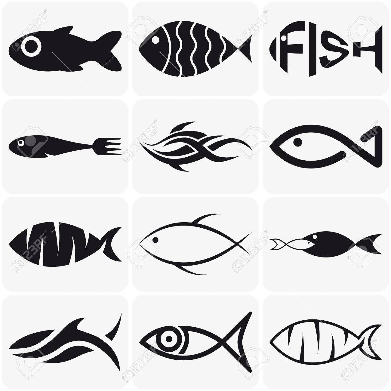 Stock Photo en 2020 Dibujo pescado, Logotipo de peces y