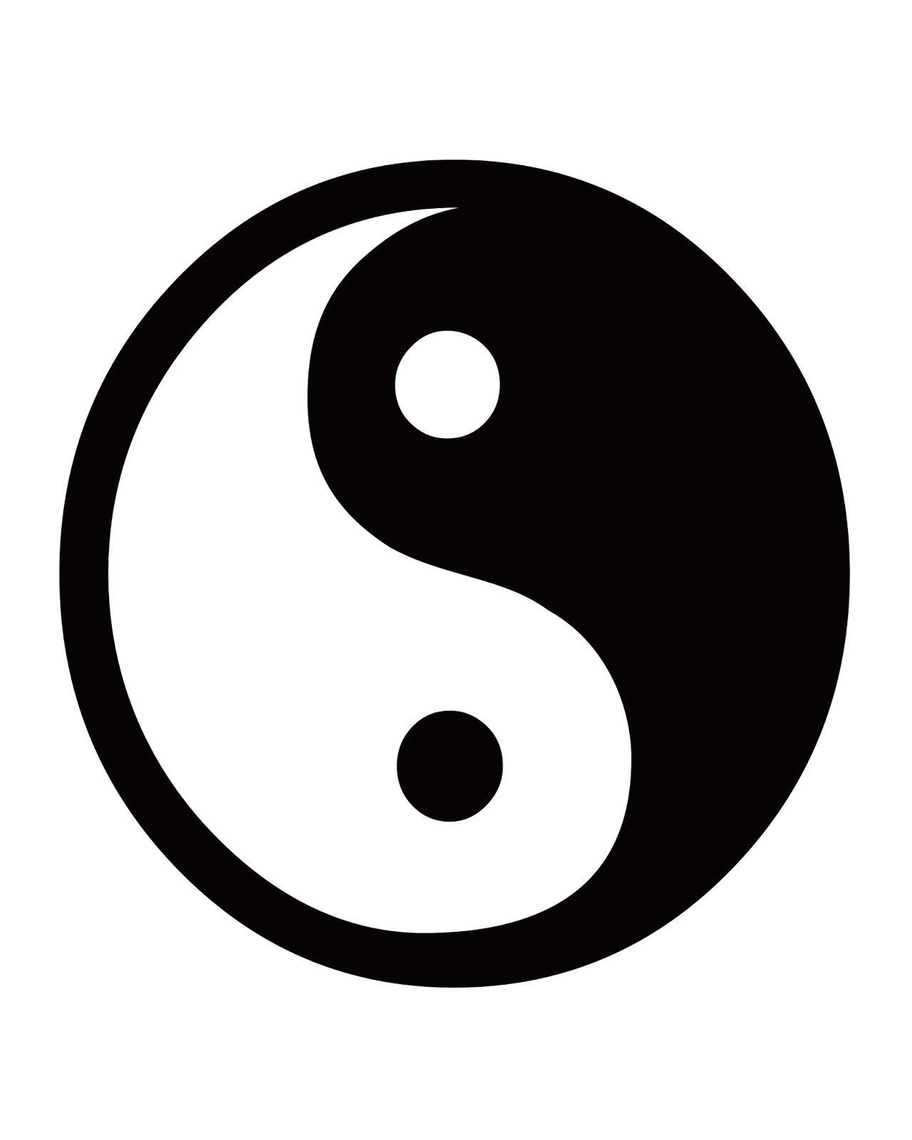 online store 1f32c c7e21 Free Printable 8x10 Black and White Artwork  Yin Yang Sign