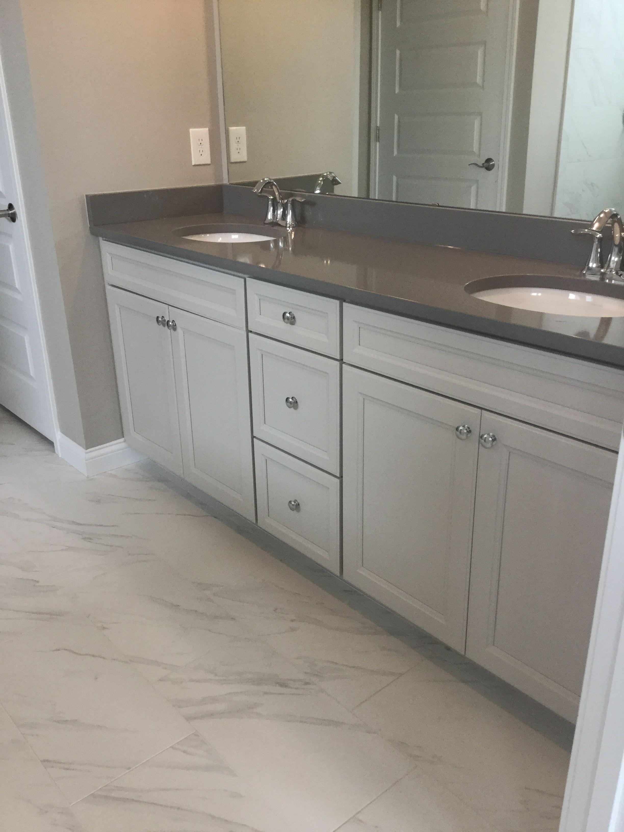 19+ White cabinets gray countertops bathroom custom