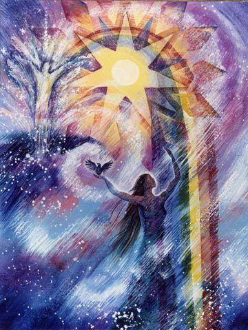 Rainbow Bridge by Willow Arlena | Art, Visionary art, Spiritual artwork