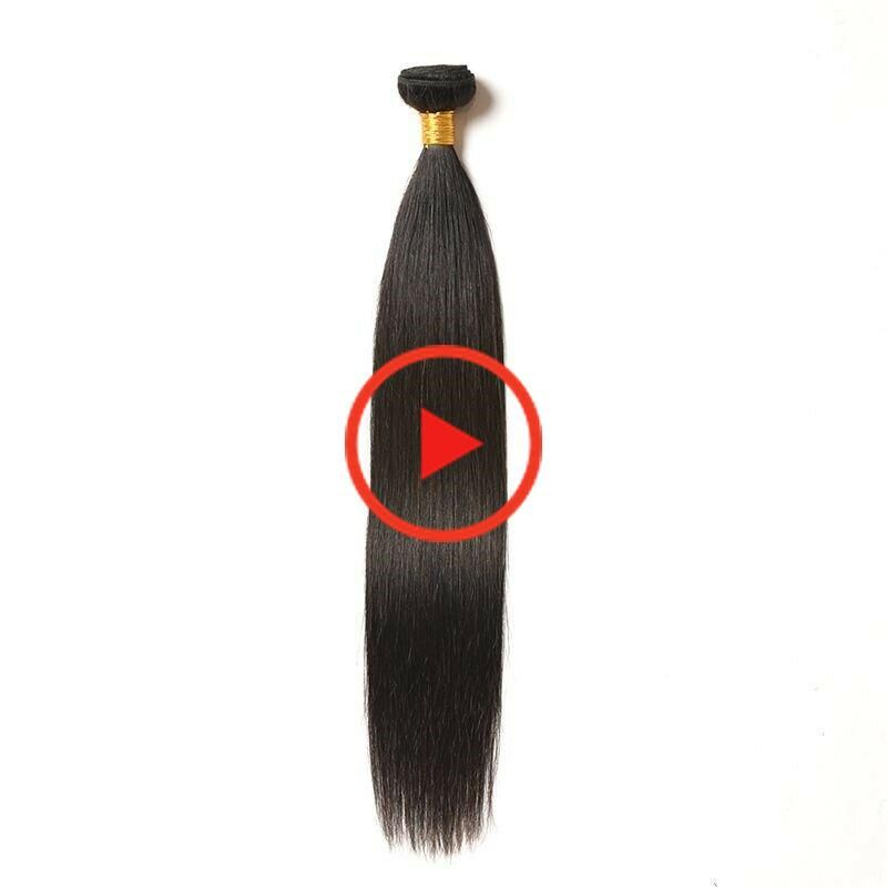 Hair Bundles Brazilian Straightened Human Non Remy Machine Double Weft Tangle #Ad , #affiliate,