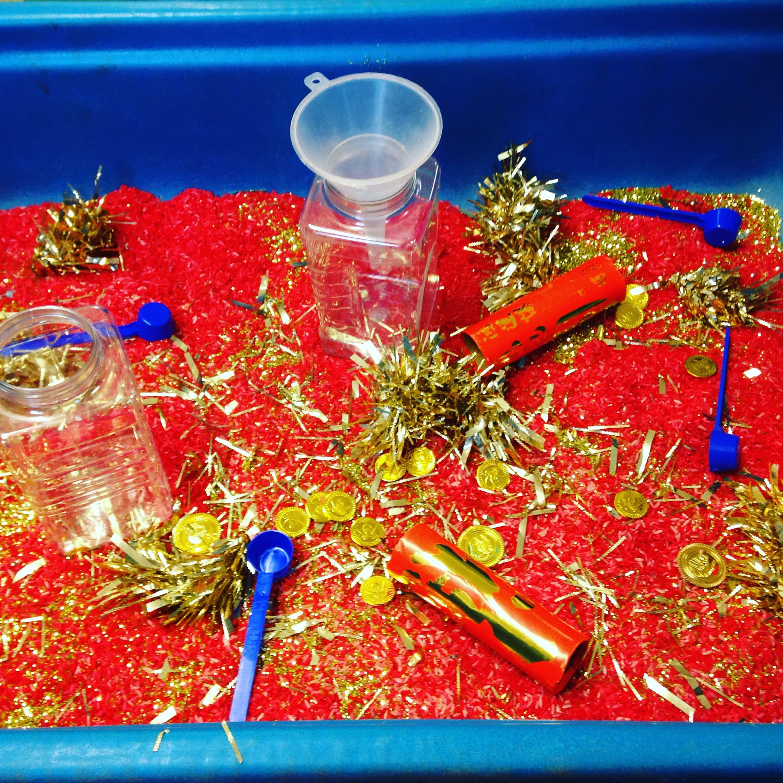 Chinese New Year Rice Scooping