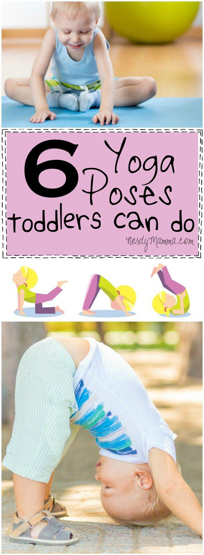 6 Yoga Poses Toddlers Can Do With A Free Printable Yoga For Kids Baby Yoga Toddler Yoga