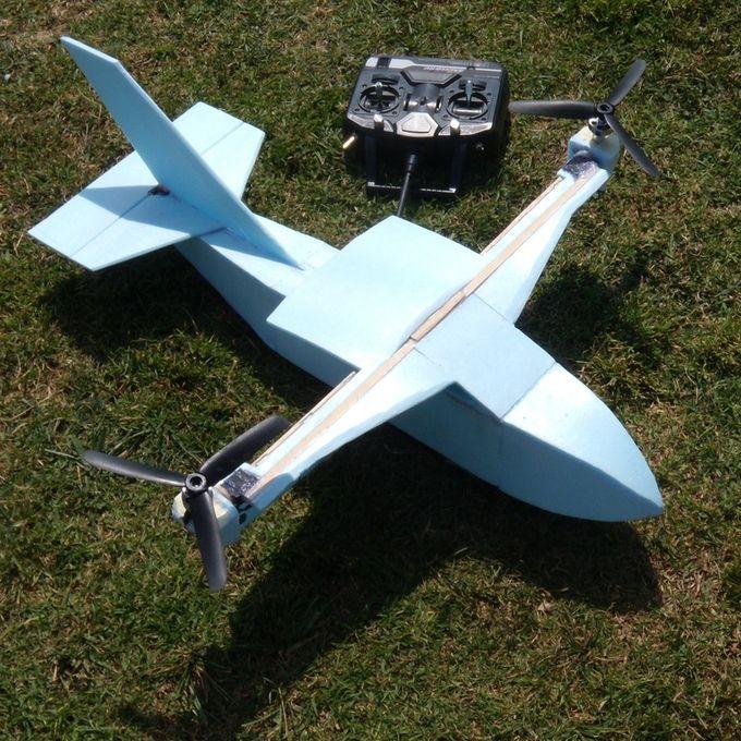 Bicopter Airplane Hybrid   Drone   Plane, Rc plane plans
