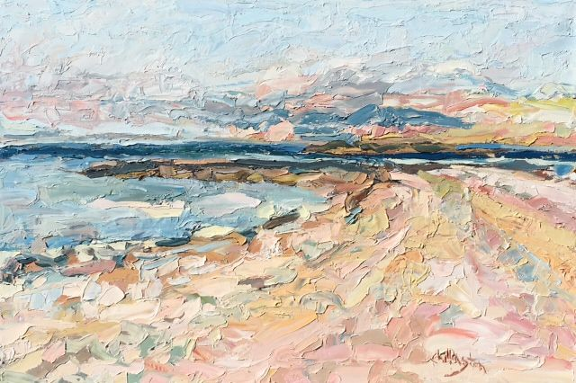 Comp Beach in Westport, by American artist J. Chillington. Original oil on Canvas, 24x36. See others at Westport River Gallery. Stop by in person or visit online: http://westportrivergallery.com