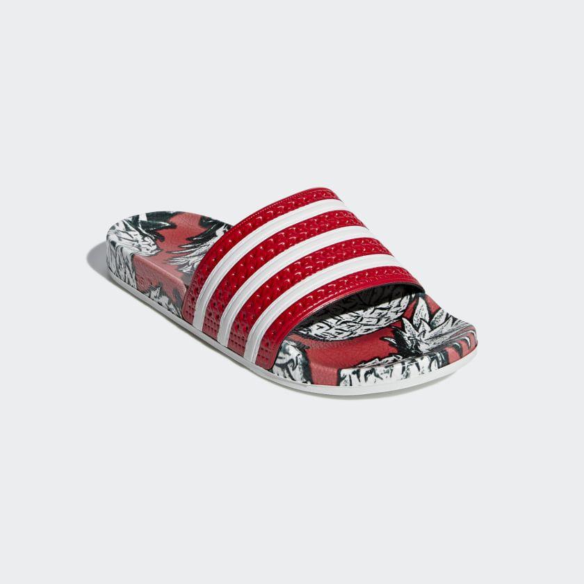 best website 22565 64404 Adilette Slides Scarlet   Off White   Scarlet D96683