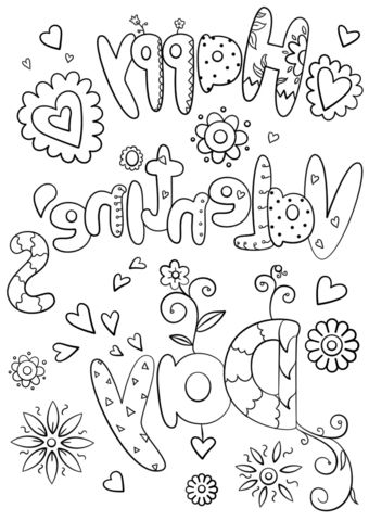 Valentines Printable Coloring Pages   Coloring Page ...