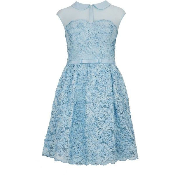 Ted Baker Ranni lace belted dress ($245) ❤ liked on Polyvore