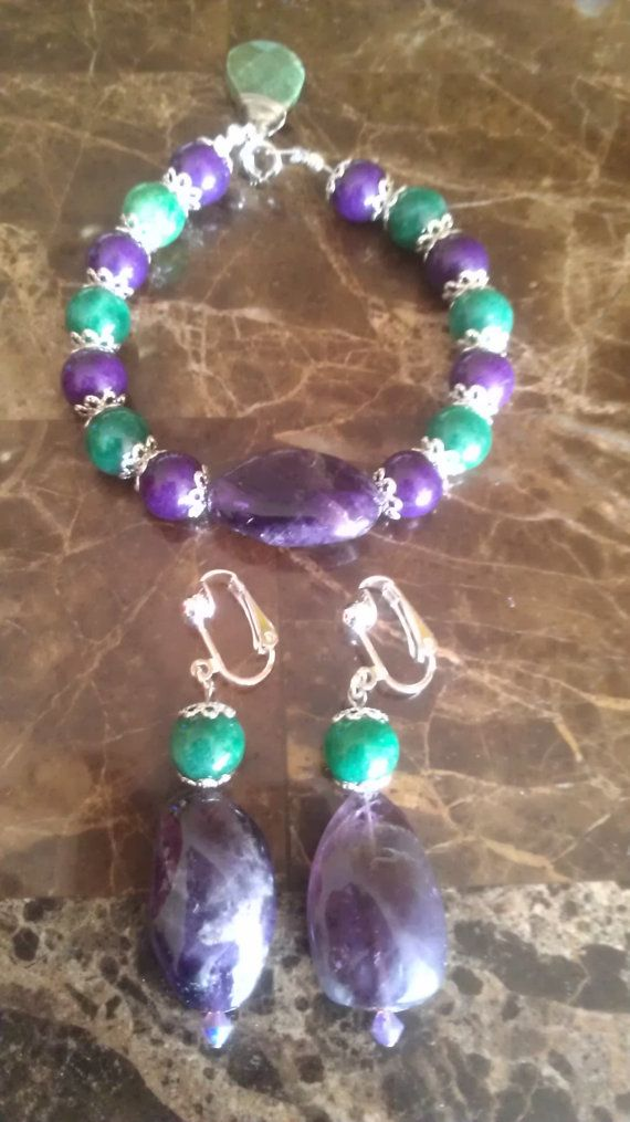 Natural stone unique hand made adjustable by Kamalicreations, $18.00