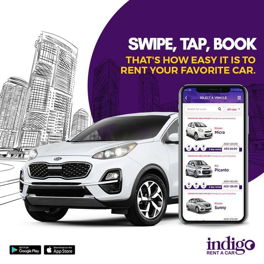 Download Indigorentacar App Car Car Advertising Design Rent A Car