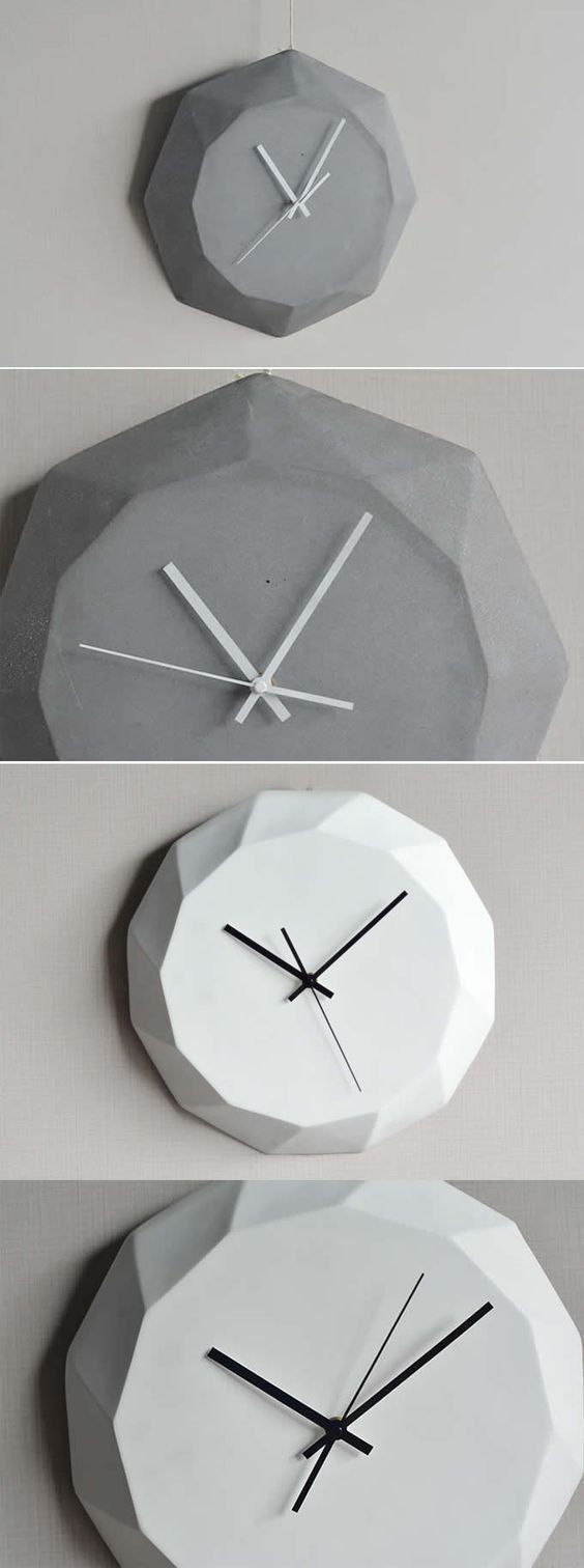 Simple Stylish Wall Clocks Are Hard To Find But We Think We Ve Cracked It With This Design With A Concrete Effect Finish It S Ele Concrete Wall Concrete Clock