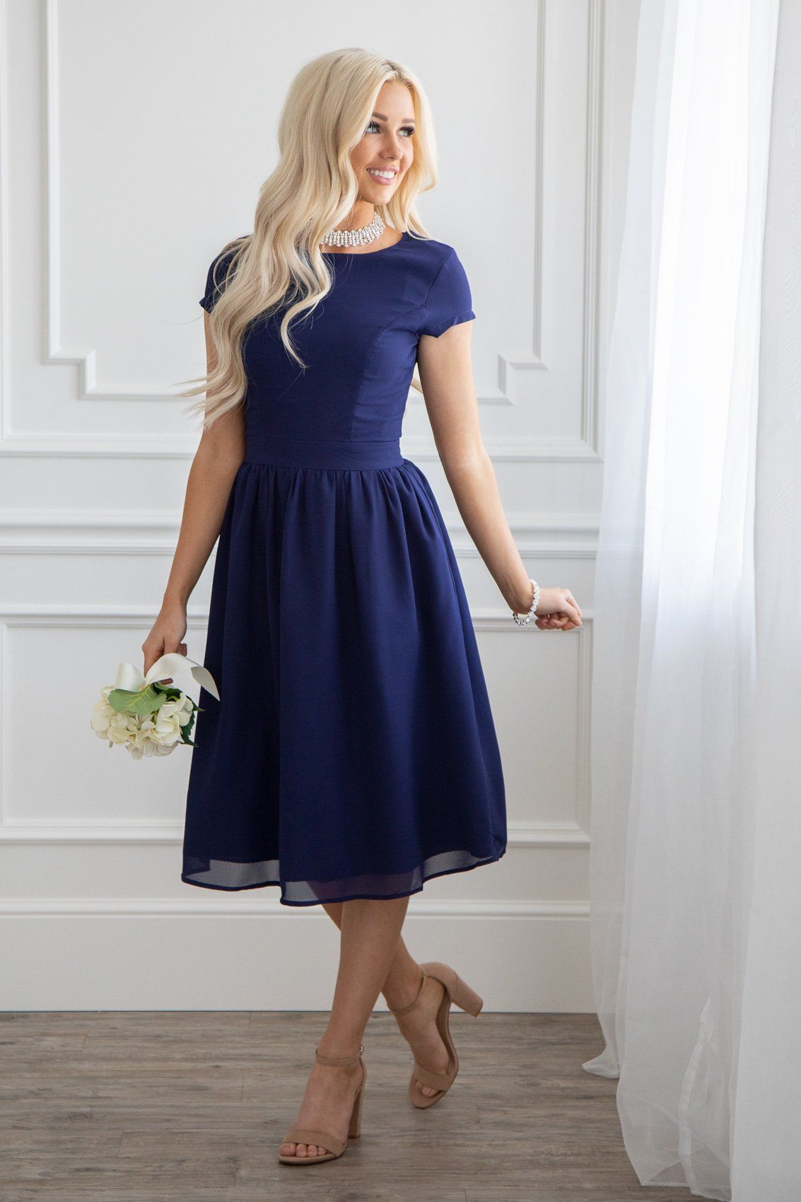 Restocked This Dress Is Perfect For Any Semi Formal Event And Makes A Great Modest Bridesmaid Dress Jen C Classy Dress Modest Dresses Modest Formal Dresses [ 1700 x 1133 Pixel ]