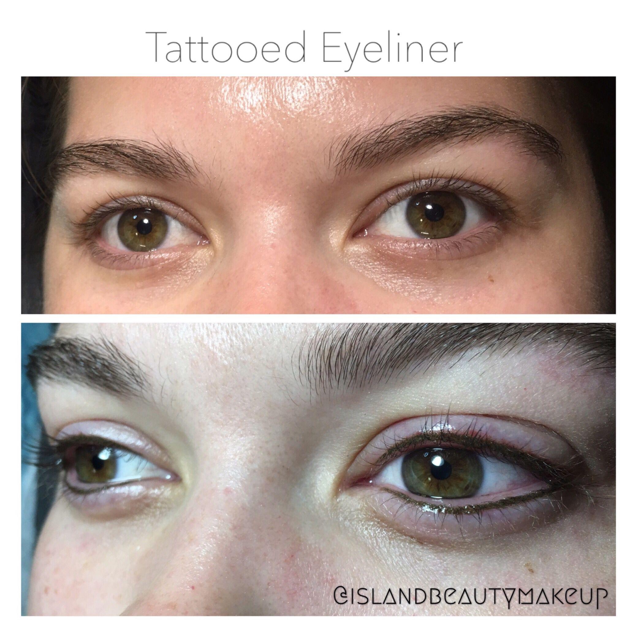 Tattooed eyeliner brown softaps pum
