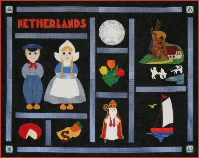 Postcards from...Netherlands quilt pattern #quilting #Netherlands