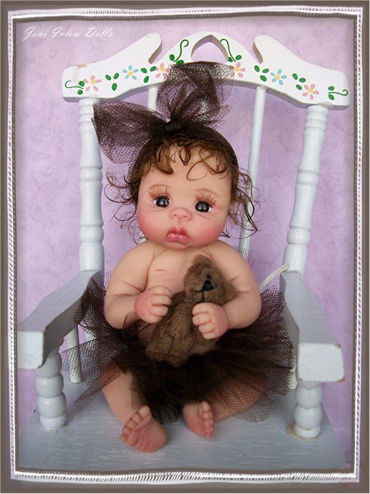 "❤OOAK HAND SCULPTED BABY GIRL ""CO-CO"" BY: JONI INLOW* DOLLY-STREET❤"
