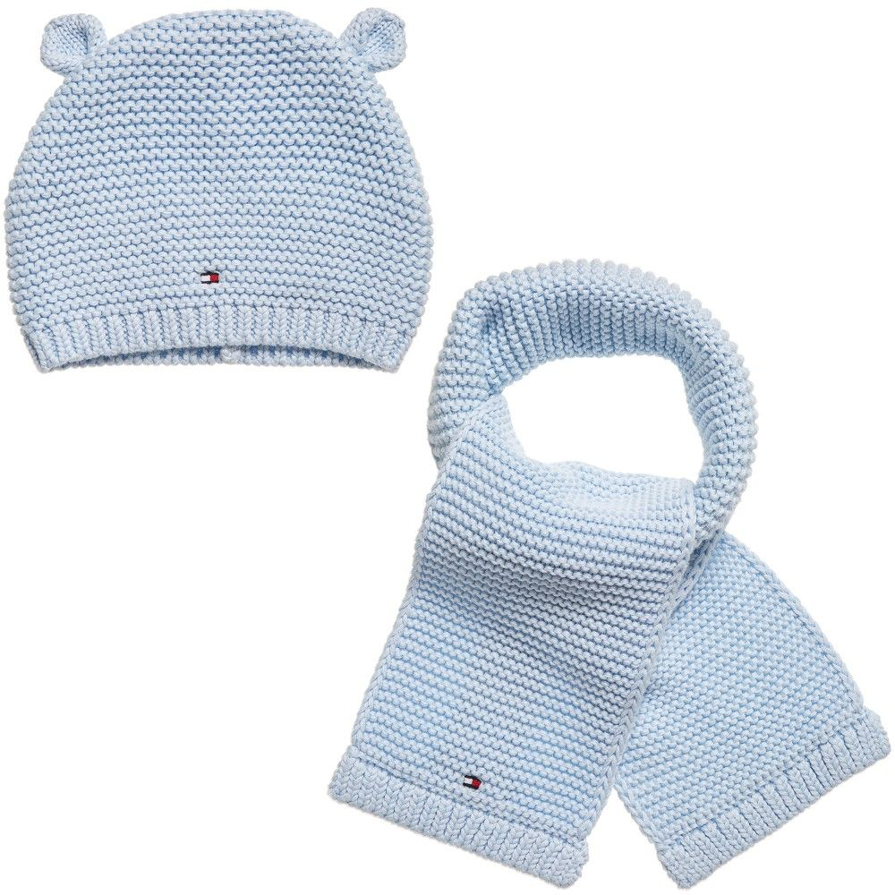 Tommy Hilfiger Baby Boys Blue 2 Piece Hat   Scarf Set  cceae4f0b40