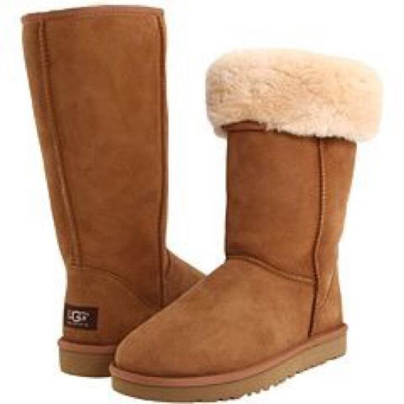 Ugg Classic Tall boots Chestnut Ugg classic tall boots. Comfy and cute :) make
